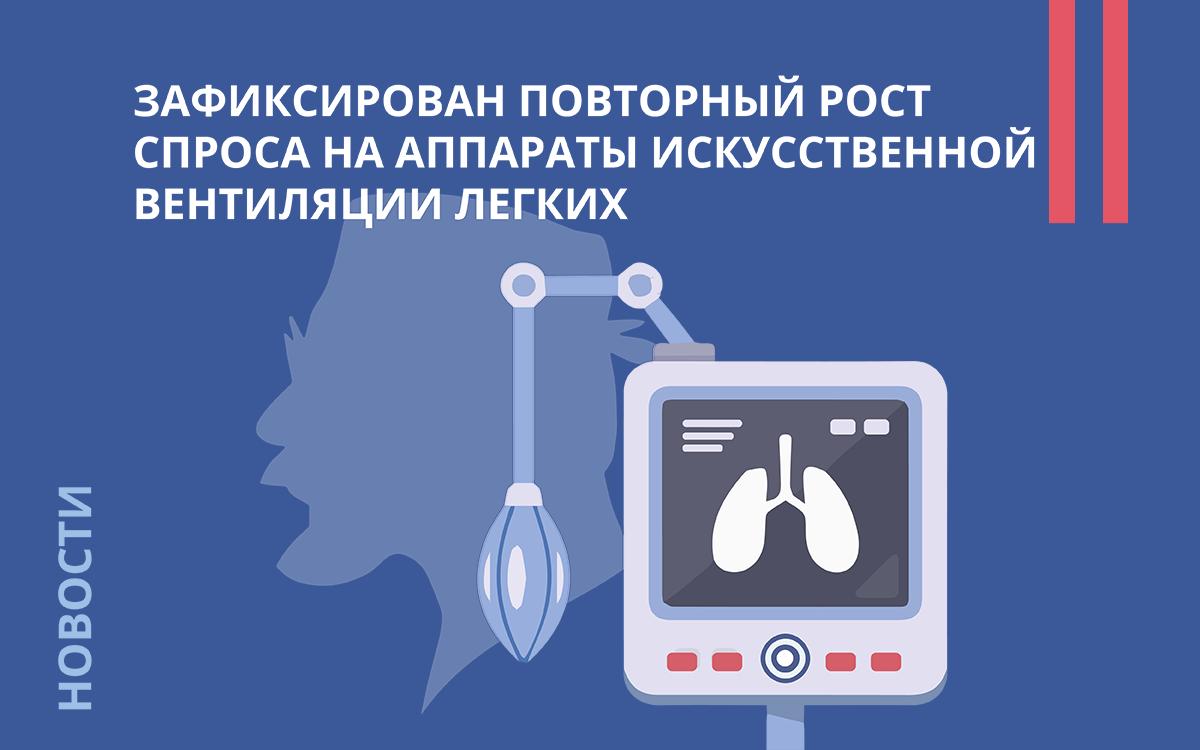 Зафиксирован повторный рост спроса на аппараты искусственной вентиляции легких
